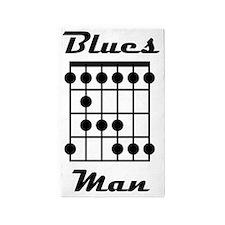 Blues Man Logo 3'x5' Area Rug