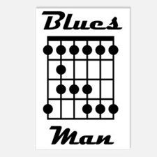 Blues Man Logo Postcards (Package of 8)
