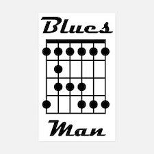 Blues Man Logo Bumper Stickers