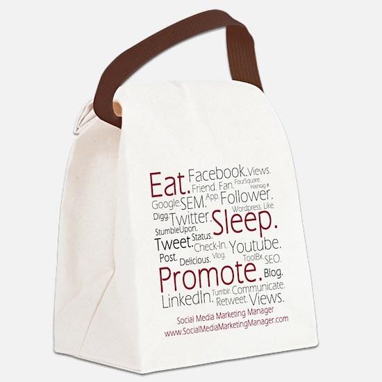 Social Media Marketing Manager Canvas Lunch Bag