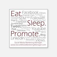 "Social Media Marketing Mana Square Sticker 3"" x 3"""