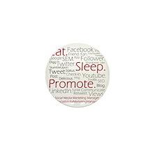 Social Media Marketing Manager Mini Button
