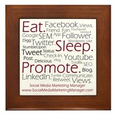Social Media Marketing Manager Framed Tile