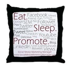 Social Media Marketing Manager Throw Pillow