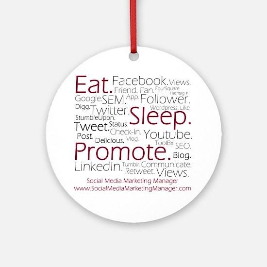 Social Media Marketing Manager Round Ornament