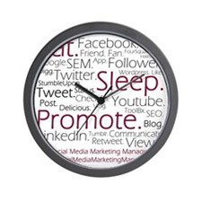 Social Media Marketing Manager Wall Clock