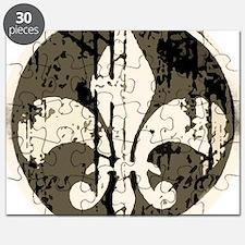 a fleur de lis antique Puzzle