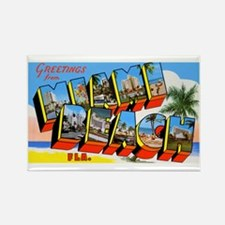 Miami Beach Florida Greetings Rectangle Magnet