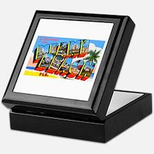 Miami Beach Florida Greetings Keepsake Box