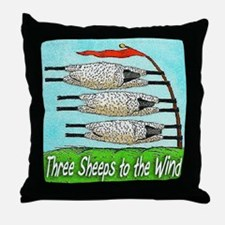 THREE SHEEPS TO THE WIND t shirt Throw Pillow