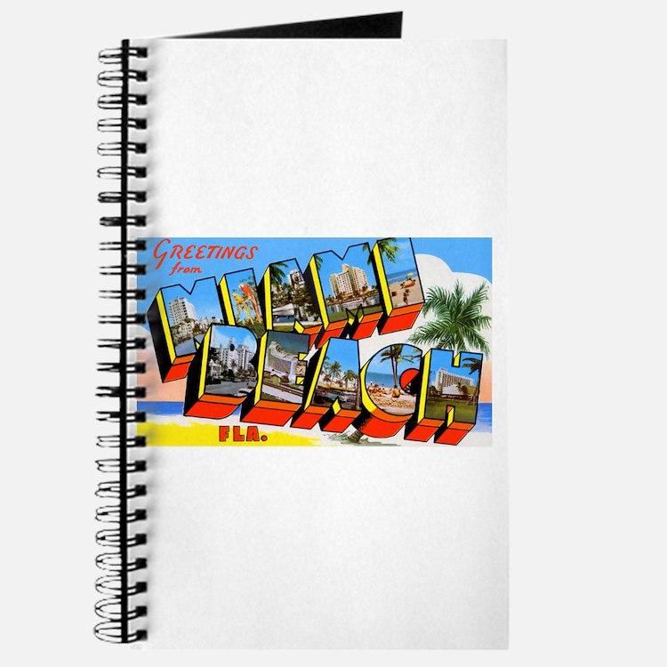 Miami Beach Florida Greetings Journal