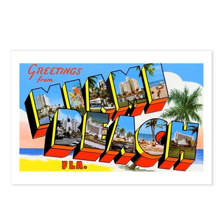 Miami Beach Florida Greetings Postcards (Package o