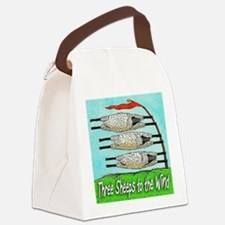 THREE SHEEPS TO THE WIND t shirt Canvas Lunch Bag
