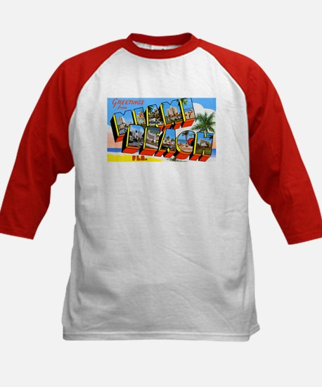 Miami Beach Florida Greetings (Front) Tee