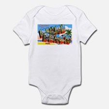 Miami Beach Florida Greetings Infant Bodysuit