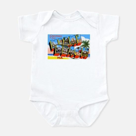 Miami Beach Florida Greetings Infant Bodysuit