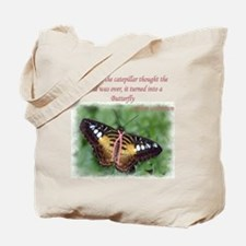 Butterfly BC Ribbon B Tote Bag