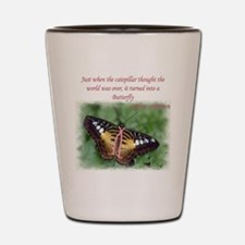 Butterfly BC Ribbon B Shot Glass