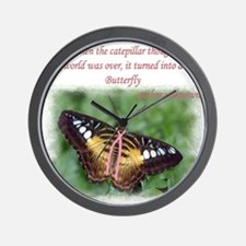 Butterfly BC Ribbon B Wall Clock