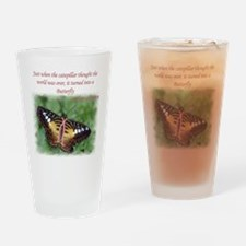 Butterfly BC Ribbon B Drinking Glass