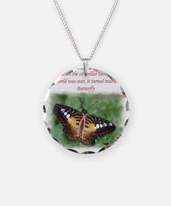 Butterfly BC Ribbon B Necklace