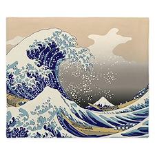Hokusai_Great_Wave King Duvet