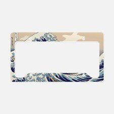 Hokusai_Great_Wave License Plate Holder