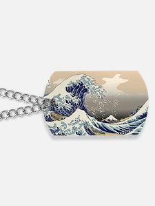 Hokusai_Great_Wave Dog Tags