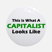 Capitalist Ornament (Round)