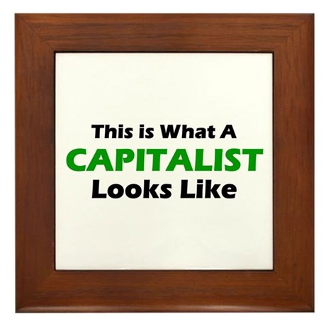 Capitalist Framed Tile