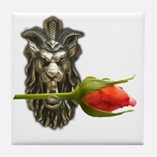 gargoyle rose Tile Coaster