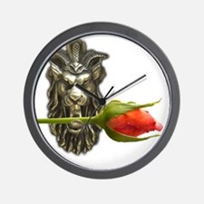 gargoyle rose Wall Clock