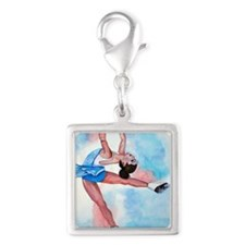 layback spin Silver Square Charm