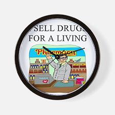 funny pharmacist joke gifts t-shirts Wall Clock