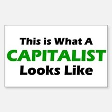 Capitalist Rectangle Decal