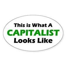 Capitalist Oval Decal