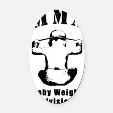 MMA-Baby Oval Car Magnet