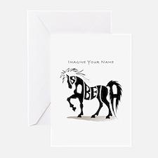 Isabella black horse Greeting Cards (Pk of 10)