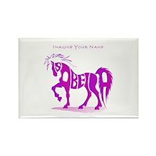 Isabella pink horse Rectangle Magnet