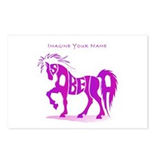 Isabella pink horse Postcards (Package of 8)