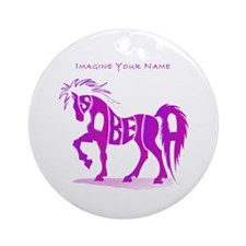 Isabella pink horse Ornament (Round)