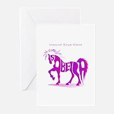 Isabella pink horse Greeting Cards (Pk of 10)
