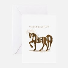 Isabella brown horse Greeting Cards (Pk of 10)