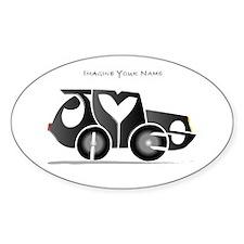 James black car Oval Decal
