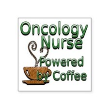 "coffee oncology Square Sticker 3"" x 3"""