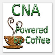 "coffee cna Square Car Magnet 3"" x 3"""