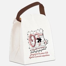 ot puzzle pink Canvas Lunch Bag