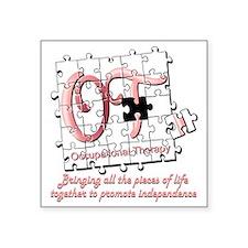 """ot puzzle pink Square Sticker 3"""" x 3"""""""