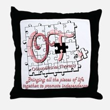 ot puzzle pink Throw Pillow