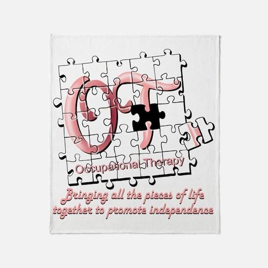 ot puzzle pink Throw Blanket